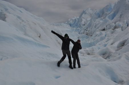 Dabbing Out on the Moreno Glacier