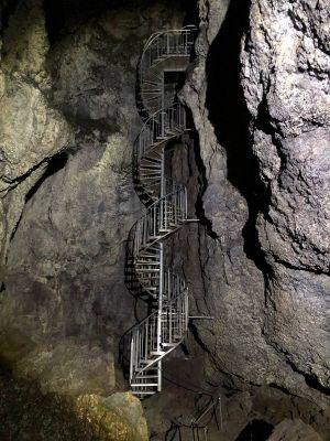 Inside the lava tube