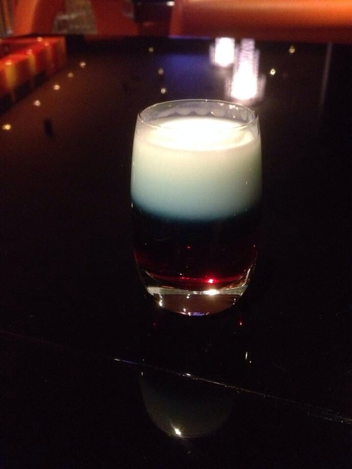 Cocktail in colours of Russian Flag!