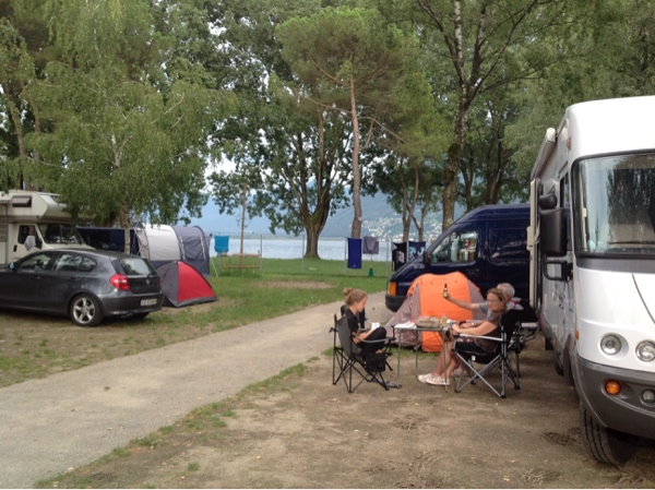 Delta Camping looking out over Lake Maggiore
