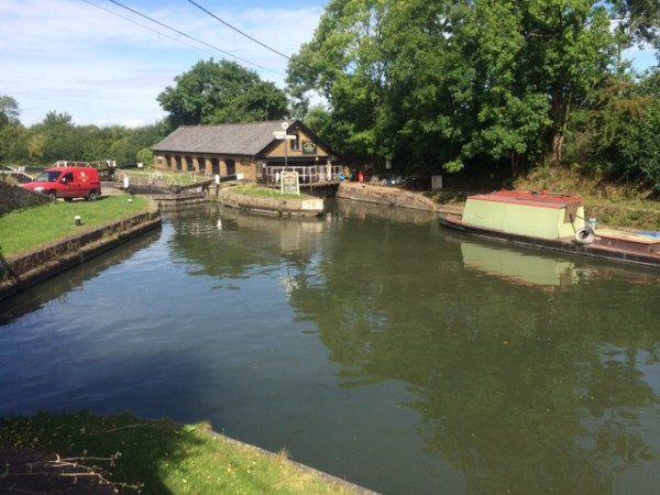 Grand Union Canal junction with the Wendover Arm